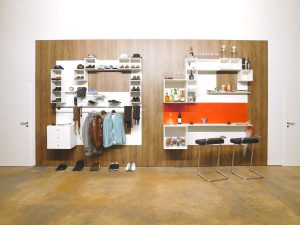 shnel wardrobe bar interior design horeca retail fitting with shelves decorated