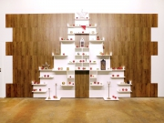 shnel christmas tree interior design horeca retail fitting shelves decoration
