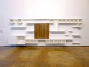 shnel living room interior design individual shop fitting shelves wood oak no decoration