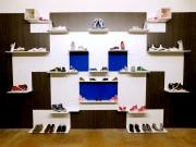 shnel shoe cabinet shelf retail design shop fitting decorated