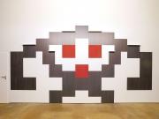 shnel space invader interior design wall covering art shelves