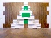 shnel weihnachtsbaum wandverkleidung wanddesign kunst möbel wandregale eiche innendesign